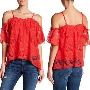 Love Fire Cold Shoulder Blouse